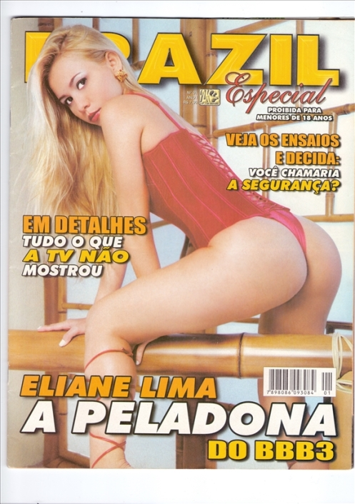 revista  BRAZIL  ESPECIAL  eliane lima a peladona do big brother  ensaio nu 2003